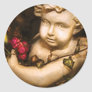 Rose - The Cherub Round Sticker