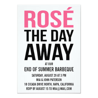 Rose the Day Away Summer Party 13 Cm X 18 Cm Invitation Card