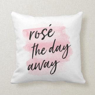 Rosé the Day Away Throw Pillow