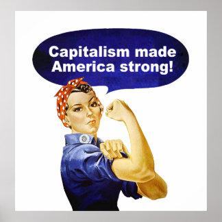Rose the Riveter-Capitalism poster