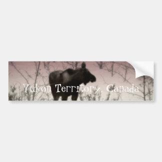 Rose Tinted Moose; Yukon Territory, Canada Bumper Sticker