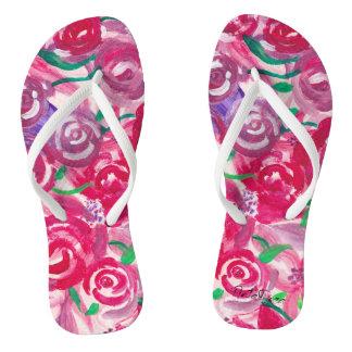 Rose Toes Thongs