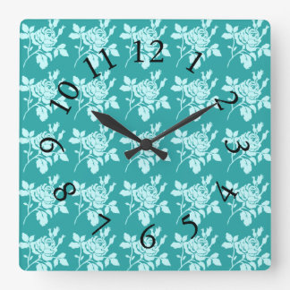 Rose-Toile_Jade(c)Multi-Choices Square Wall Clock