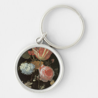 Rose Tulip Passion Flower Fine Art Keychain