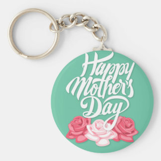 rose typography mother day key ring