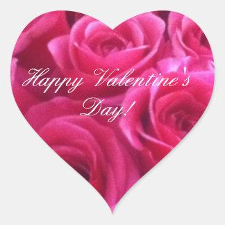 Rose Valentine's day heart stickers