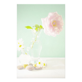 Rose & Vase Custom Stationery