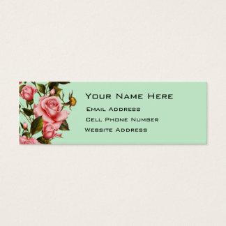 Rose Vine Skinny Mini Business Card