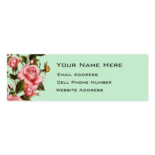 Rose Vine Skinny Profile Card Business Card Template