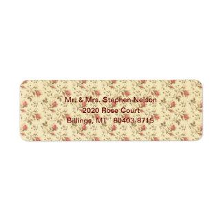 Rose Wallpaper Return Address Label