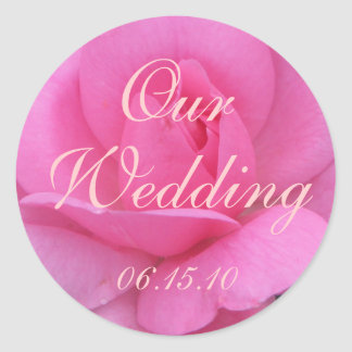 Rose Wedding Envelope Seals Round Sticker