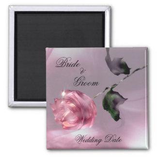 Rose Wedding Favor Magnet