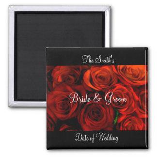 Rose Wedding Favor Magnet template