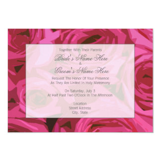 Rose Wedding Invitation - Together With Parents