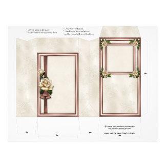 Rose Wedding Pinch Box Party Favors 21.5 Cm X 28 Cm Flyer