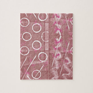 Rose White Abstract Jigsaw Puzzle