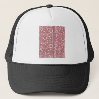 Rose White Abstract Trucker Hat