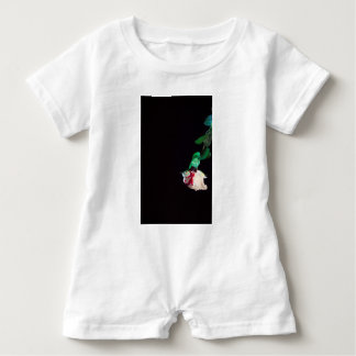 Rose white blood red side baby bodysuit