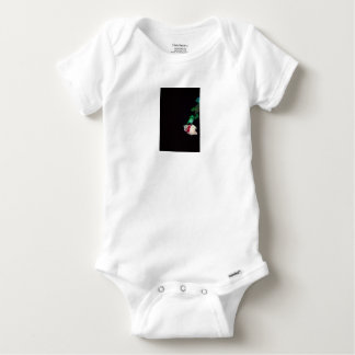 Rose white blood red side baby onesie