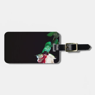 Rose white blood red side bag tag
