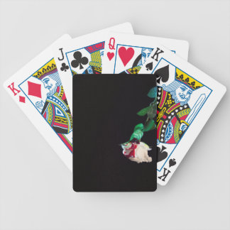 Rose white blood red side bicycle playing cards