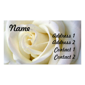 Rose White, Profile Card Pack Of Standard Business Cards