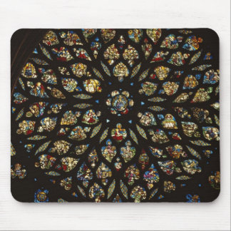Rose window above the west door, with scenes depic mouse pad