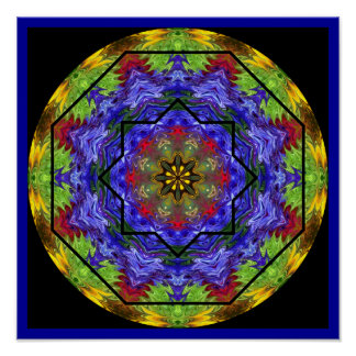 Rose Window Mandala Poster 1
