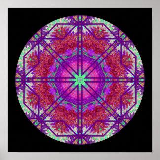 Rose Window Mandala Poster 2