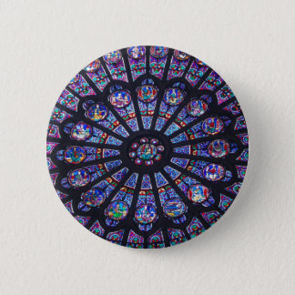 Rose Window Paris 6 Cm Round Badge