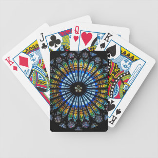 rose window strasbourg cathedral bicycle playing cards