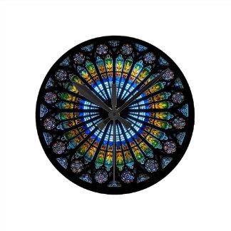 rose window strasbourg cathedral round clock