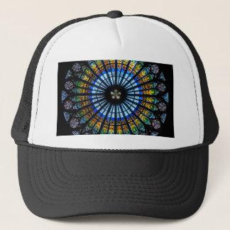 rose window strasbourg cathedral trucker hat