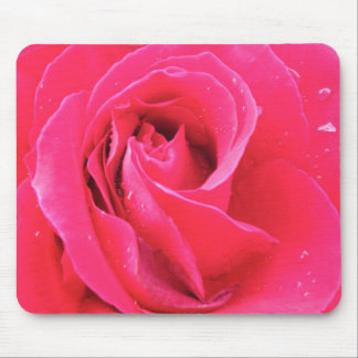 Rose with drops mouse pad