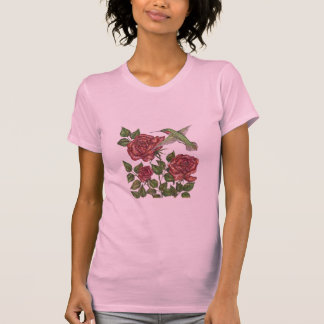 Rose with Hummingbird T-Shirt