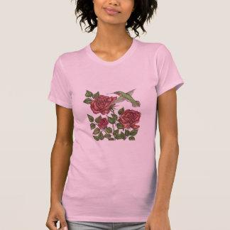 Rose with Hummingbird Tee Shirts