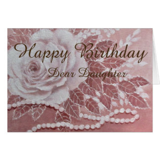 Rose with Pearls, Birthday card