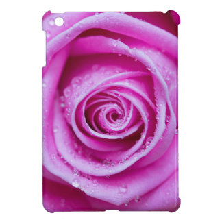 Rose with water droplets cover for the iPad mini
