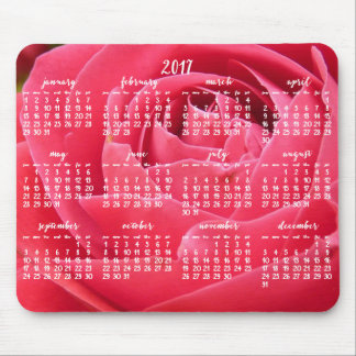 Rose Yearly Calendar 2017 Mouse Pads