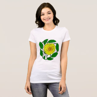 Rose Yellow Design on Women's short-sleeve t-shirt