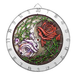 Rose yingyang tattoo design dartboard