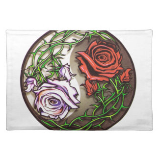 Rose yingyang tattoo design placemat