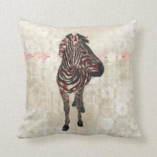 Rose Zebra White Mojo Pillow