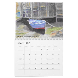 Roseann Meserve 2017 Maine Watercolor Calendar