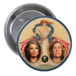 Roseanne Barr / Cindy Sheehan 2012 Pins