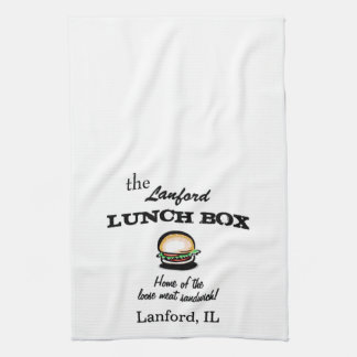 Roseanne Lanford Lunch Box Dish Towel