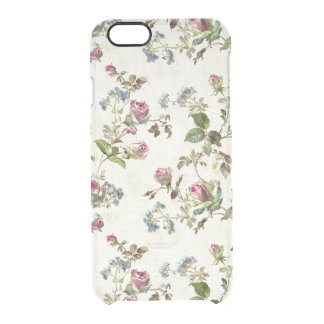 Rosebud Floral Pattern Clear iPhone 6/6S Case