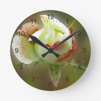 rosebud glowing wall clocks