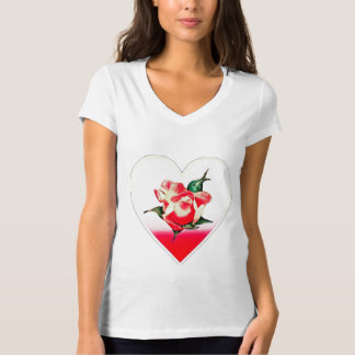Rosebud heart T-Shirt