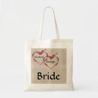 Rosebud Hearts Tote Bag